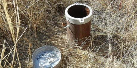 A groundwater monitoring well.